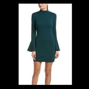hutch forest green flare sleeve dress size s
